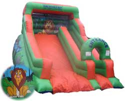 Inflatable slide and bouncy castle hire from Ding's Entertainment Ltd