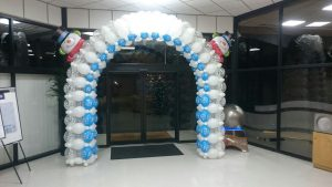 Christmas Quick Link Boxed Balloon Arch